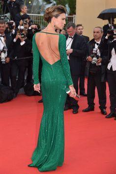 Claudia Galanti at 2013 Cannes Film Festival Dressy Dresses, Cute Dresses, Prom Dresses, Brown Evening Dresses, Evening Gowns, Sexy Green Dress, Elie Saab, Vestidos Oscar, Oscar Dresses