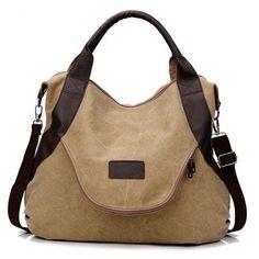 1b1bf3bff9 BAGS. Canvas BagsCanvas HandbagsTote HandbagsFashion HandbagsLeather  HandbagsCollege StyleCollege FashionCross BodyCanvas Leather