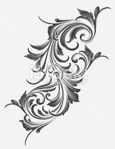 Victorian Acanthus Scrollwork Royalty Free Stock Vector Art Illustration
