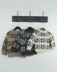 børne strik sweater med stjerner strikkekit