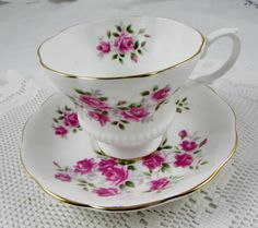 Royal Albert Tea Cup and Saucer with Small Pink Roses