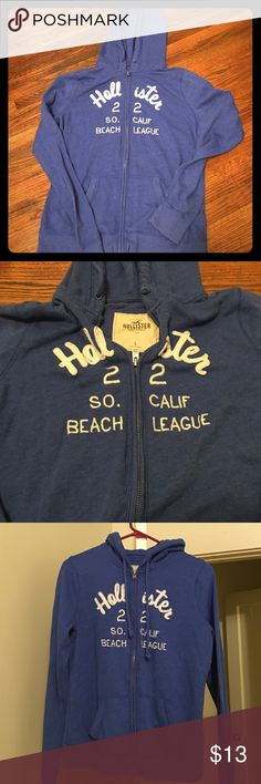 Hollister Hoodie Size is more of a XS or Small. Great condition and super soft. Hollister Tops Sweatshirts & Hoodies