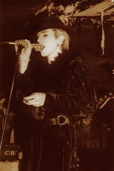 Christian Death at the Bat Cave. Rozz Williams.... such a pretty little goth boy. le sigh.