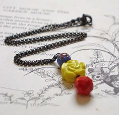 30 Sale Puffluna30 Coupon Vintage Beaded Necklace by puffluna, $28.00