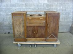 Vintage Art Deco Bath Vanity Base | Second Use, Seattle: Building Materials, Salvage, & Deconstruction