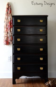 Hollywood Regency style chest of drawers makeover picture 4