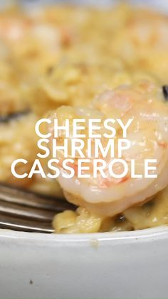 This cheesy Shrimp Casserole Recipe is a delicious combination of cheese, shrimp and rice in creamy mushroom soup, that can be served as a party appetizer or a weeknight family meal. Cheesy Shrimp Casserole Home. Shrimp Recipes For Dinner, Shrimp Recipes Easy, Seafood Dinner, Fish Recipes, Seafood Recipes, Cooking Recipes, Seafood Appetizers, Recipe For Shrimp And Rice, Seafood Rice Recipe