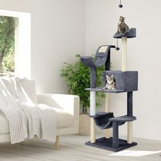 Cat Tree Tower Condo Furniture Scratching Scratch Pet Play House New - Cat Furniture - Ideas of Cat Furniture - Cat Tree Tower Condo Furniture Scratching Scratch Pet Play House New Price : Tree Furniture, Condo Furniture, Furniture Ideas, Large Cat Tree, Tree Bed, Bed With Posts, Furniture Scratches, Cat Tree Condo, Interactive Cat Toys