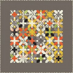 Another X and + quilt, this one all in fabrics from a single line. Interesting. More for me to think on.  X&+ by Zen Chic Comma