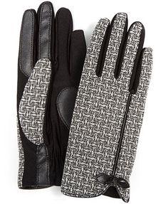 Isotoner Stretch Basket Weave Bow Gloves