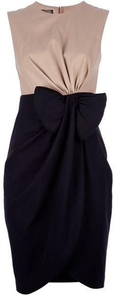 GIAMBATISTA VALLI Bow Detail Dress - Lyst