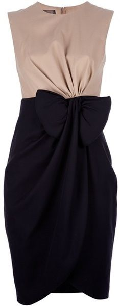 GIAMBATISTA VALLI Bow Detail Dress - Lyst