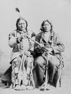 Sitting Bull and One Bull, via Flickr.