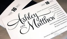 Printable Wedding Invitation - DIY - Ashley Suite via Etsy