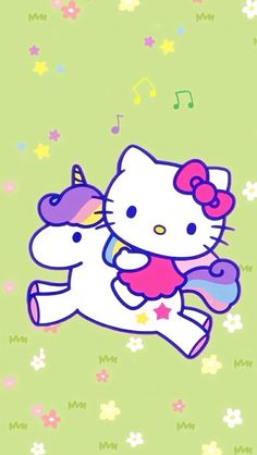Hello kitty phone wallpaper unicorn