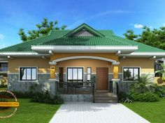 Nestor 3 Bedroom Small Contemporary House Design - Pinoy House Designs - Pinoy H. Modern Bungalow House, Bungalow House Plans, Craftsman Style House Plans, Small Bungalow, Small House Design, Cool House Designs, Modern House Design, Affordable House Plans, House Construction Plan