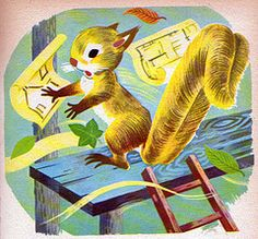 The Animals Build a House, Illustrations by Robert Marsia, 1963- Squirrel
