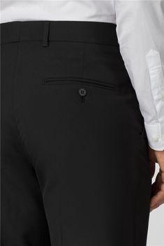 Scott & Taylor | Men's Black Panama 3 Piece Suit | Suit Direct Formal Suits, Men Formal, Funeral Suit, Black Three Piece Suit, Suits Direct, Modern Gentleman, Fitted Suit, 3 Piece Suits, Men's Wardrobe