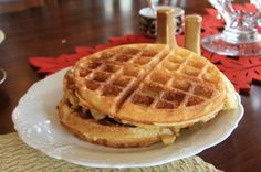 Every Sunday morning, my mom and I used to get up early and make these wonderful waffles. This recipe has been in the family for years, and I will definitly be passing it down to my children.