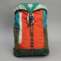 Epperson Mountaineering Large Climb Pack in Kelly Green/Mandarin Hiking Gear, Hiking Backpack, Backpack Bags, Vintage Backpacks, Cool Backpacks, Engineered Garments, Down Vest, Mountaineering, Kelly Green