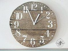 diy barnwood projects using cast off weathered pallets, diy home crafts, pallet projects - Could make this square and insert waterproof clock mechanism