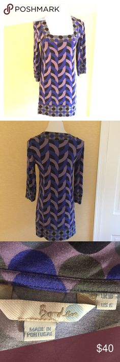 Boden cotton tunic top / dress Size 6 cotton tunic with a fun geometric print. Great with leggings. Boden Dresses