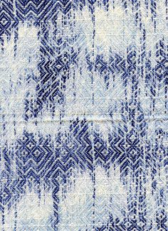 Gennie Stafford: gennie catastrophe | point twill | cotton | resist-dyed warp | Raleigh-Durham, North Carolina | c. 2010