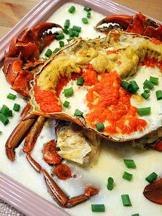 Missta's Kitchen: 花雕蛋白蒸蟹