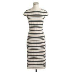 Double-stripe cap-sleeve dress : wear-to-work | J.Crew