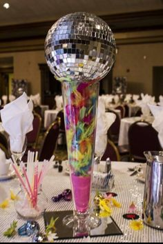 Disco party centerpiece