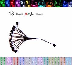 18 Channel LED Multi-Color Accent Light Harness RGB / Strip / Pod / Wheel Pod #Shadz_LED