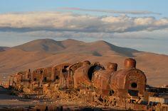 """Cementerio de Trenes"", Bolivia, Uyuni  (Train Cemetary)  Graham Styles Photography."