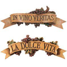 Park Avenue Collection S/ Dolce Vita & In Vino Veritas Plaques