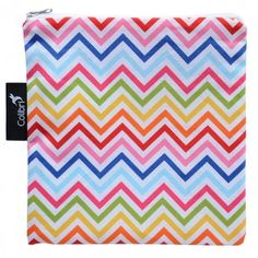 rainbow chevron snack (or anything) baggie - large Eco Kids, Rainbow Chevron, Snack Bags, Reusable Bags, School Fun, Snacks, Eat, Fabric, How To Make