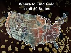 Don't make the mistake of thinking that you can't find gold in your state. In fact, there are spots near you where prospectors are finding gold right now! Minerals And Gemstones, Rocks And Minerals, Gold Sluice Box, Gold Mining Equipment, Metal Detecting Tips, Gold Deposit, Gem Hunt, Magnet Fishing, Panning For Gold