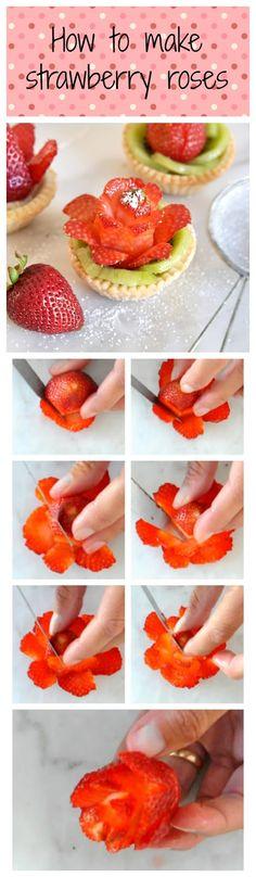 Cooking with Manuela: Strawberry Rose Tartlets