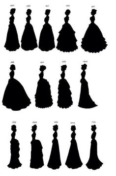 Fashion forms from 1837 to 1902 -Steampunk design tool for the .- Modeformen von 1837 bis 1902 -Steampunk Design-Tool für die Woche der Geschichte – Fashion Forms from 1837 to 1902 -Steampunk Design Tool for the Week of History – … - Vestidos Vintage, Vintage Outfits, Vintage Dresses, Victorian Dresses, Victorian Dress Costume, Historical Costume, Historical Clothing, Historical Dress, Elie Saab