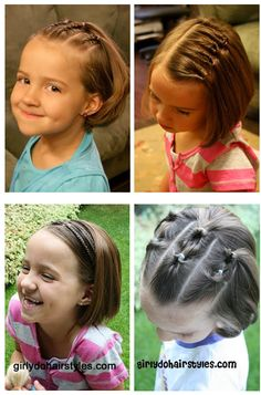 a few selected hair styles for little girls...  from girlydohairstyles.com