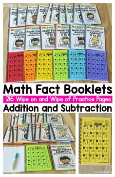 Math Facts Booklets- Help your students build number fluency and master addition and subtraction with these simple booklets!