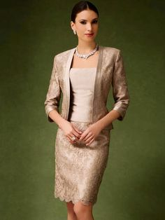 White and Gold Wedding. Mother of the Bride. Mother of the Groom. Dress or Suit With Jacket. Mother Of The Bride Dress