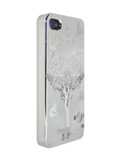 Silver Tree,Butterfly and Animals for iPhone4/4S