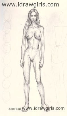How to draw and paint tutorials video and step by step: Basic Tutorial: Body Female