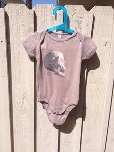 Skull  Baby Bodysuit  Organic Cotton  American by RandomOasis