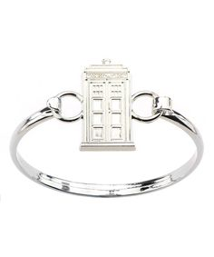 Stainless Steel TARDIS Bangle by Doctor Who #zulily #zulilyfinds   Julie I thought of you!!