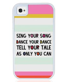 Look at this Cicada White 'Your Song' iPhone Case on #zulily today!