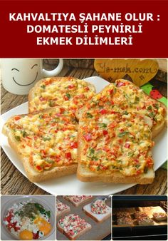 Tomato Cheese Bread Slices for Breakfast - Yemek Tarifleri: Kolay, Pratik, Lezzetli backen recipes bread Turkish Recipes, Ethnic Recipes, Breakfast Recipes, Dinner Recipes, Snacks Saludables, Tomato And Cheese, Cheese Bread, Food Platters, Queso