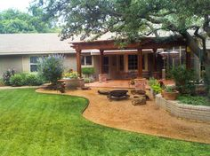 Lubbock backyard, Austex Landscape