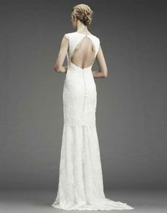 A Nicole Miller wedding gown