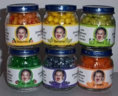 Baby food jar candy favors
