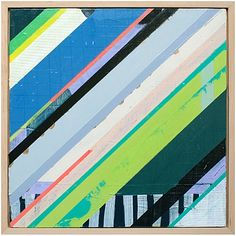 """""""Spectrum"""" by Megan Donnelly, $675, 13"""" x 13"""", available at #serenaandlily"""